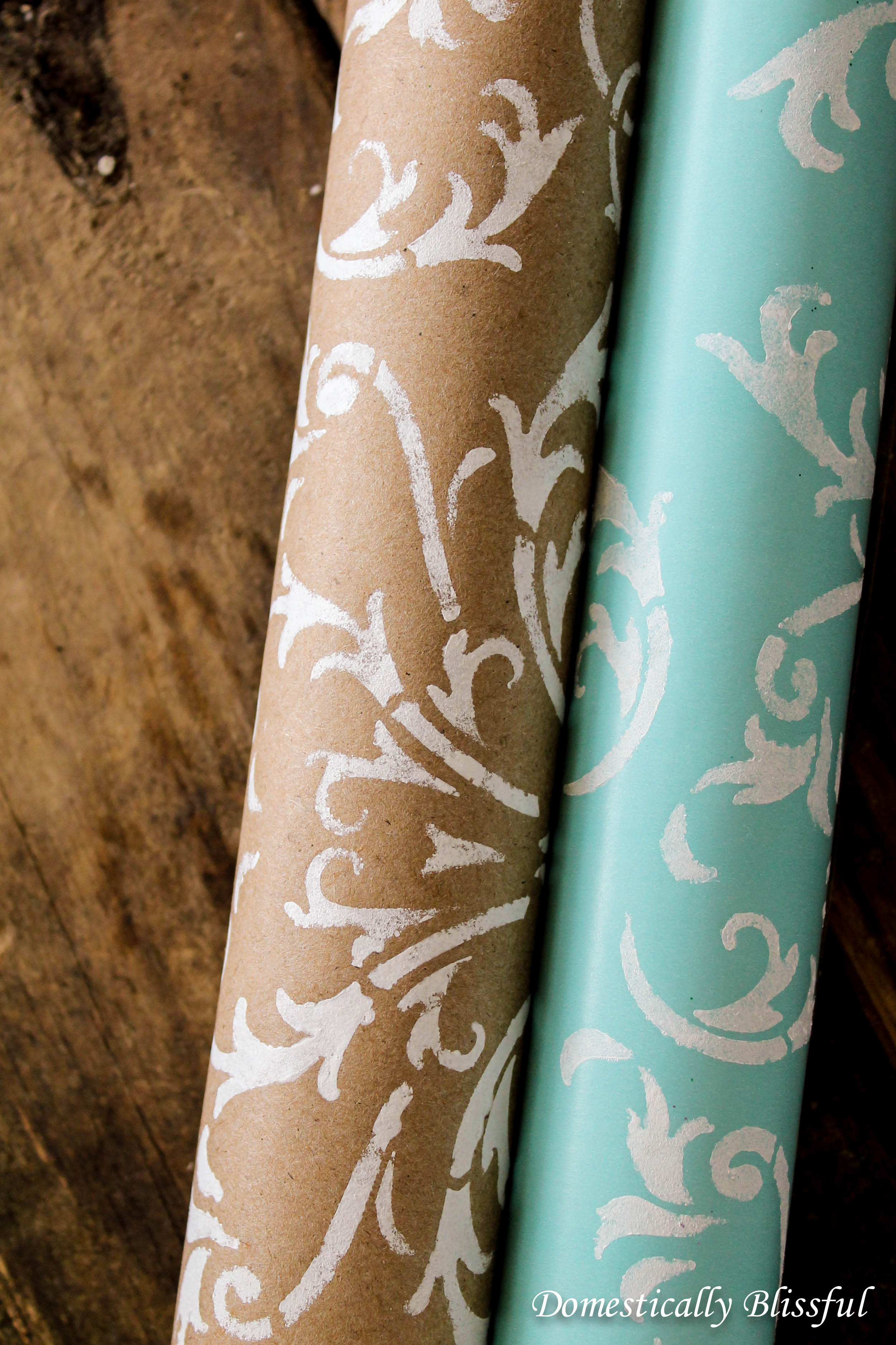 Rolls of DIY Wedding Wrapping Paper