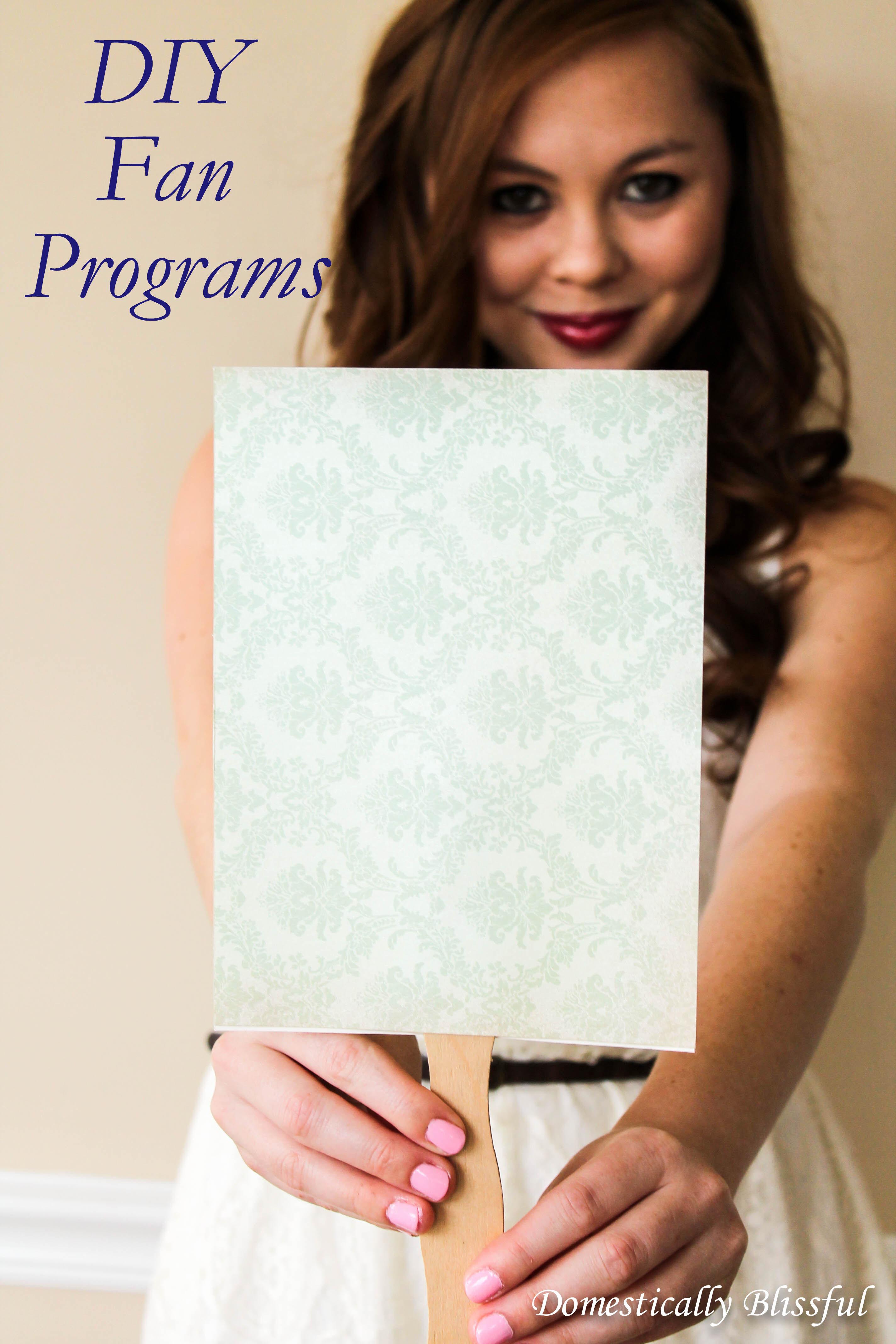 Fan Program for a DIY Bride