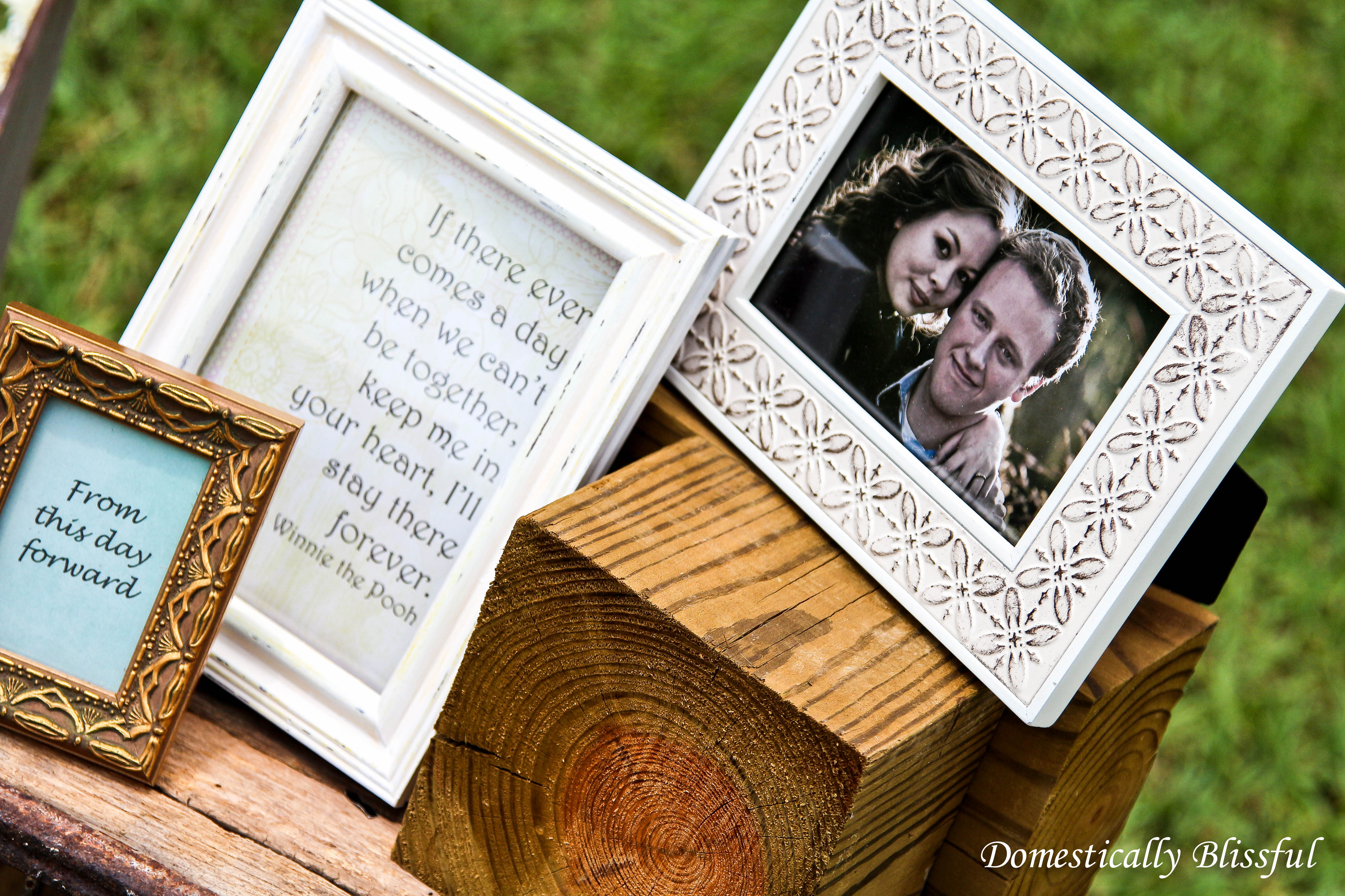 Framed Quotes at Wedding