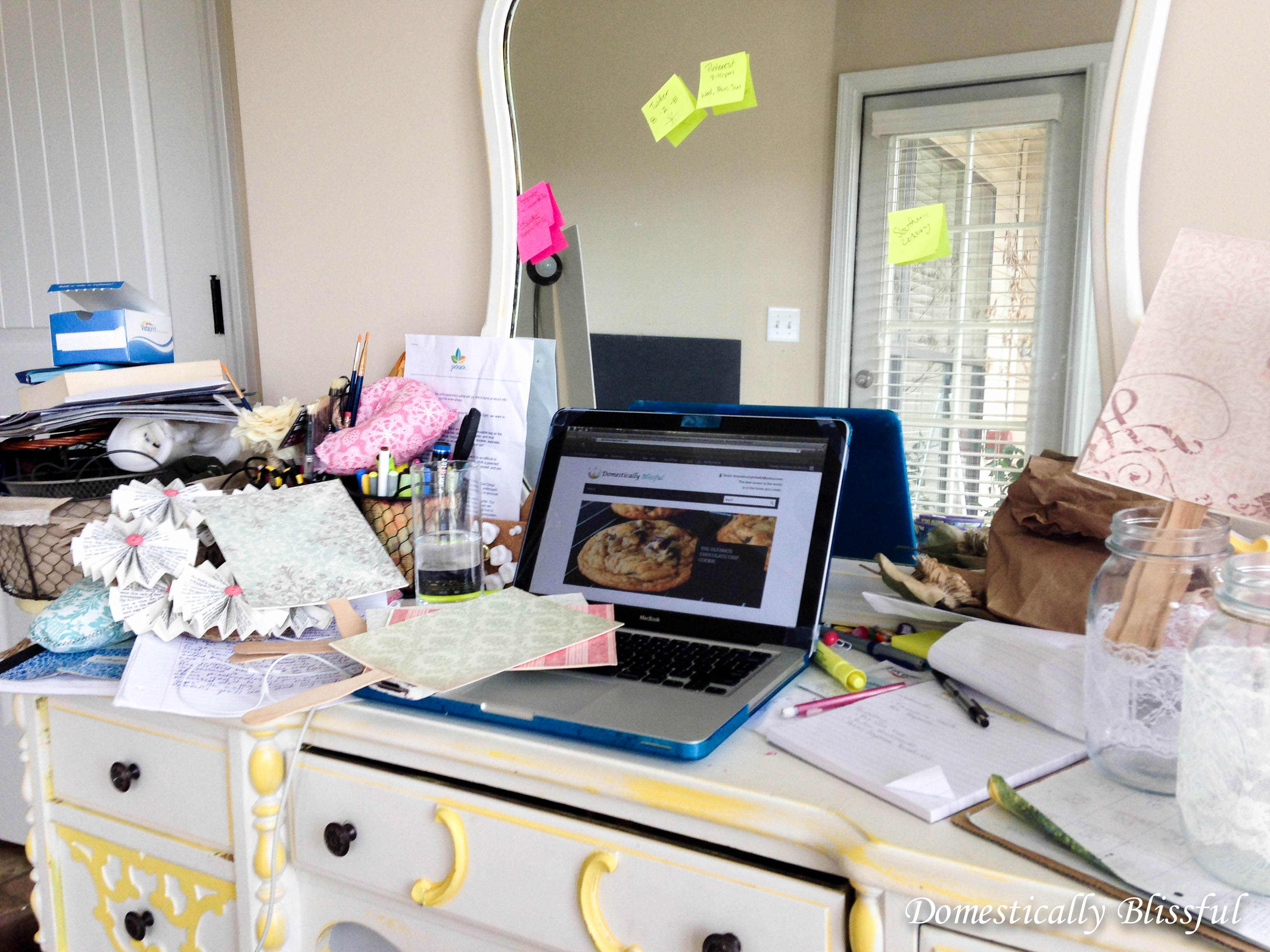 I promise my desk is not always this messy