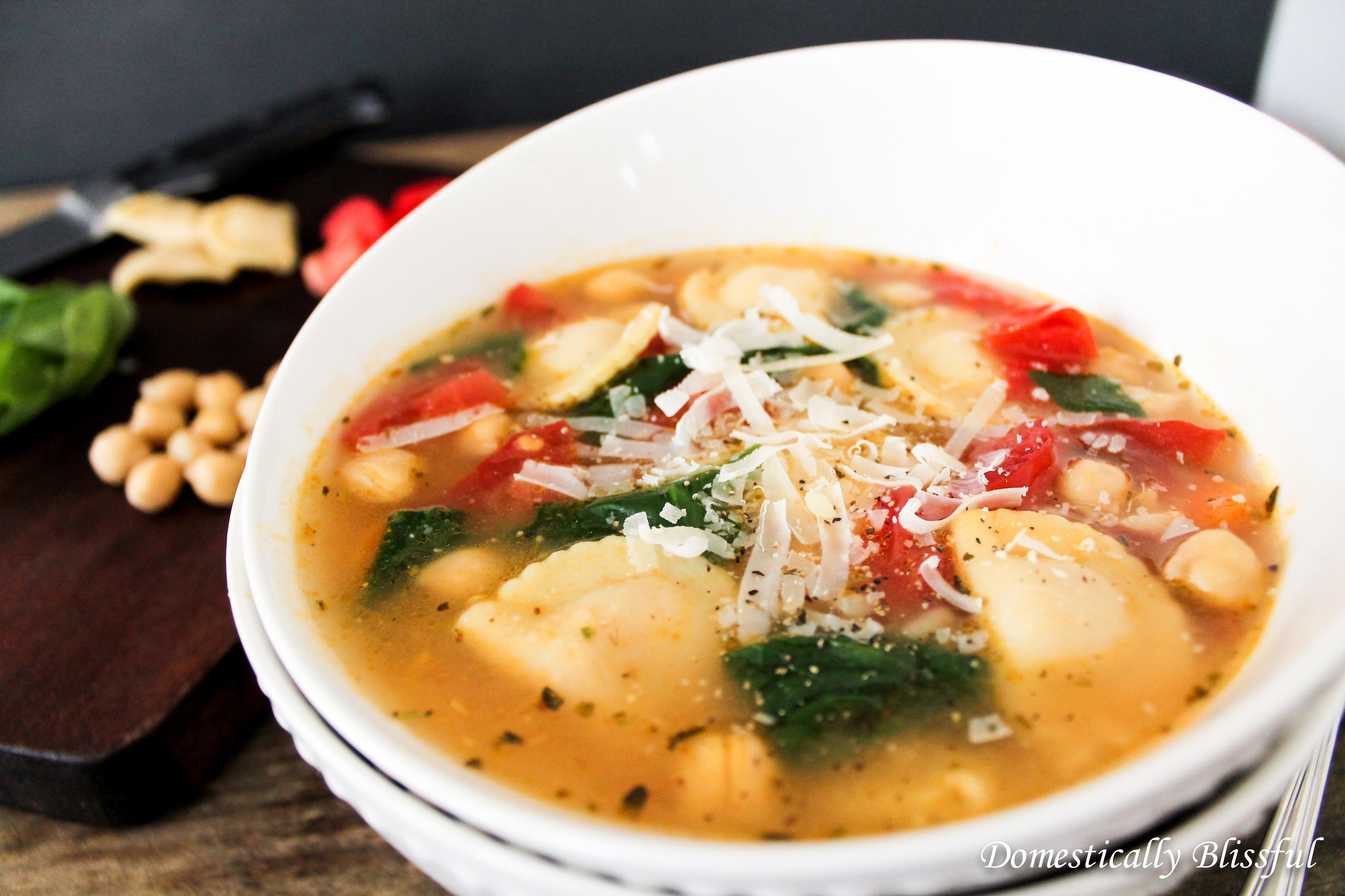 Ravioli Garden Soup