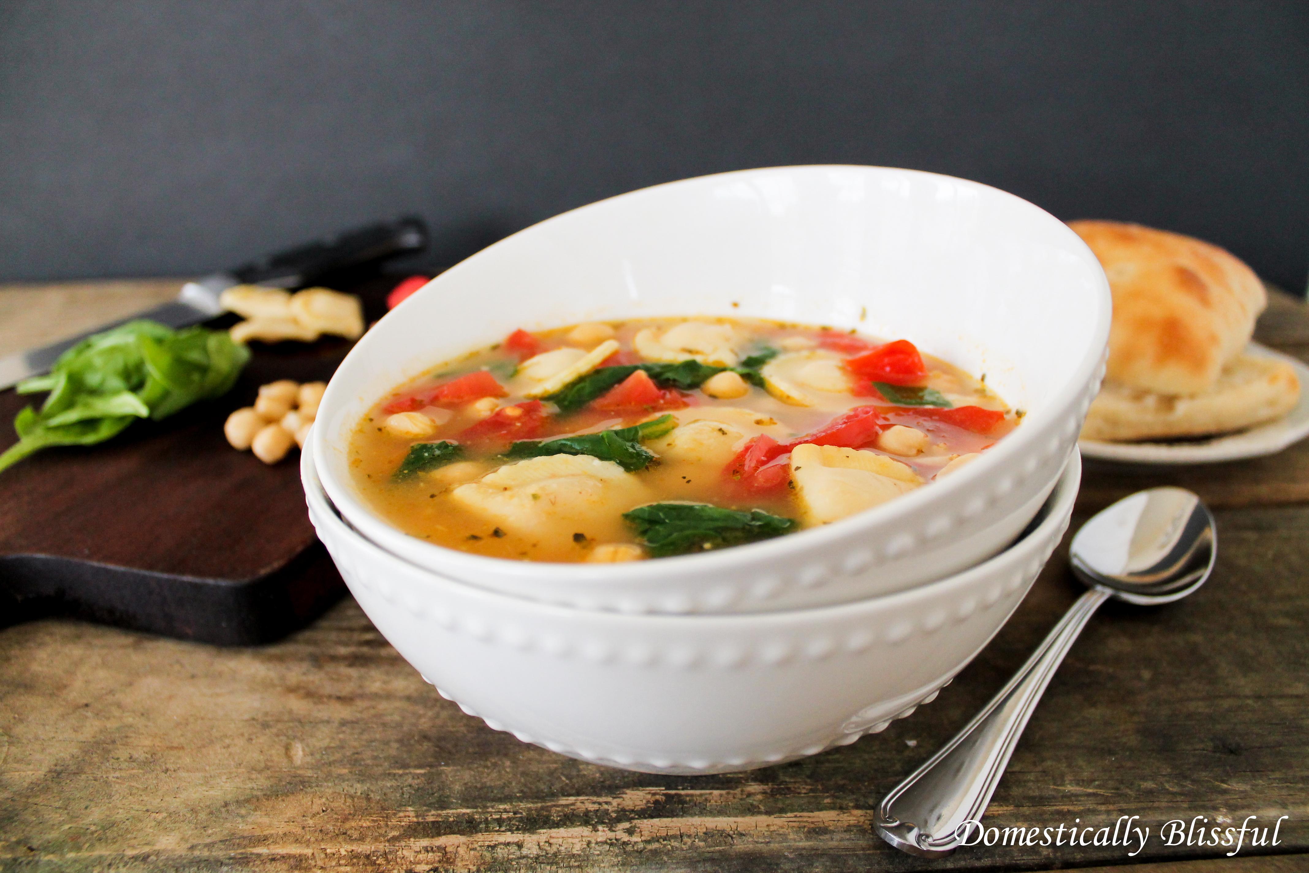 Summer Mezzaluna Garden Soup