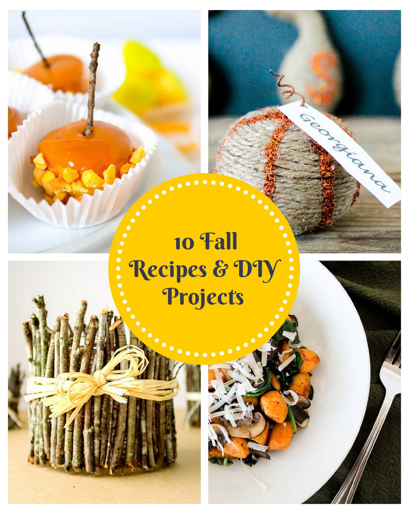 10 Fall Recipes and DIY Projects by Domestically Blissful