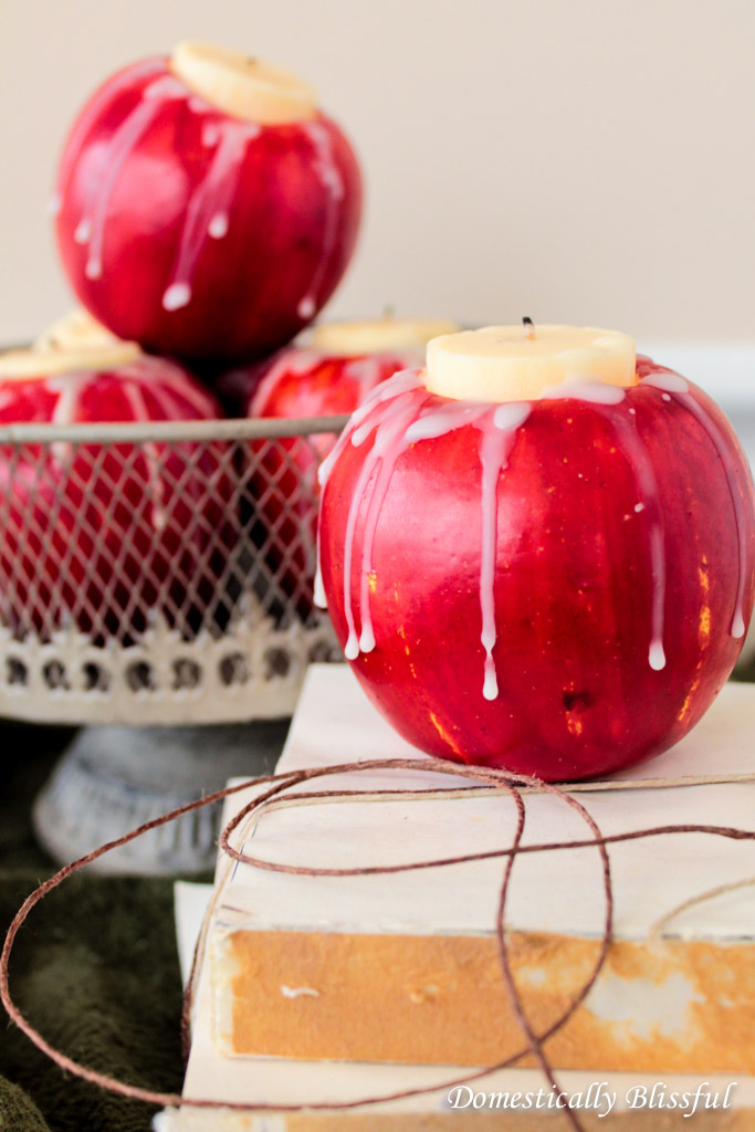Artificial Apple Candle Holder