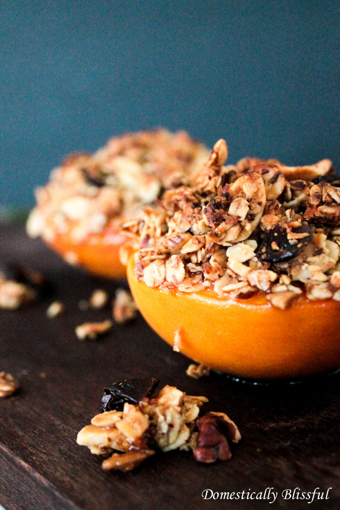 Baked Granola Peaches