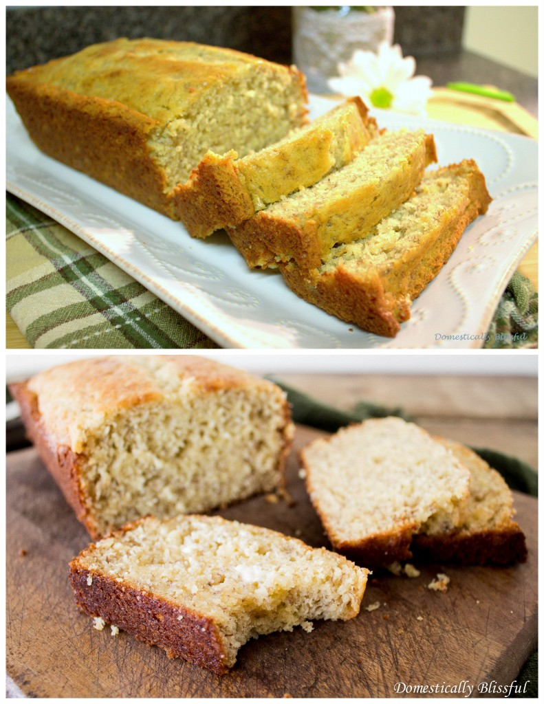 Banana Bread Before and After