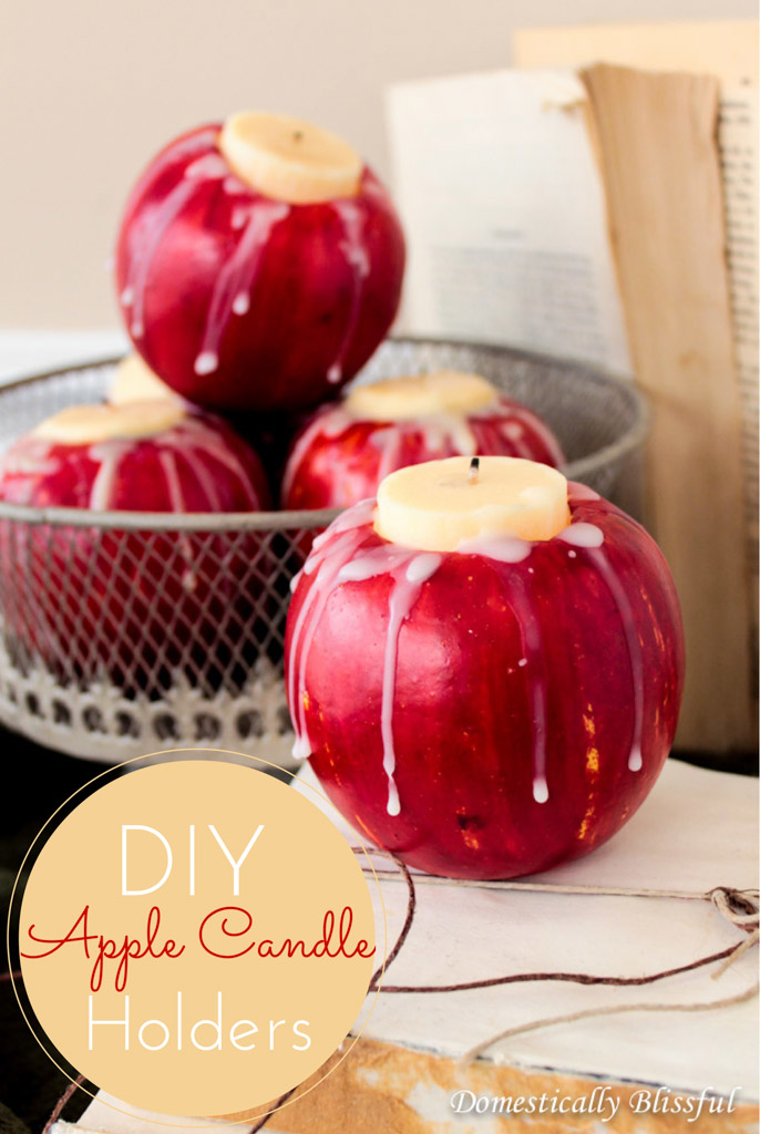 DIY Apple Candle Holders