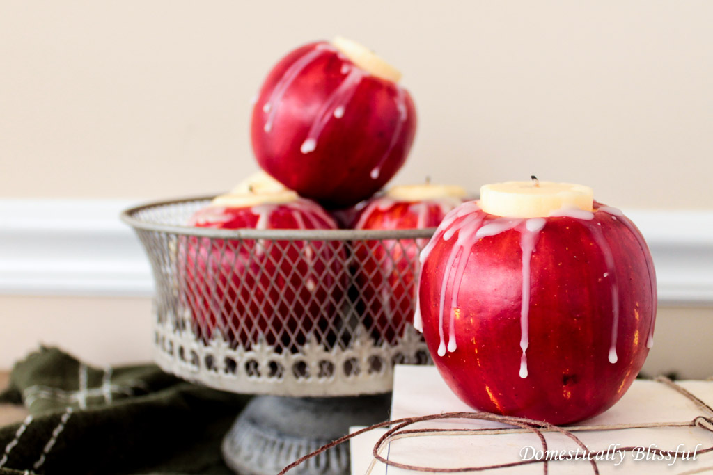 DIY Fall Apple Candle Holder