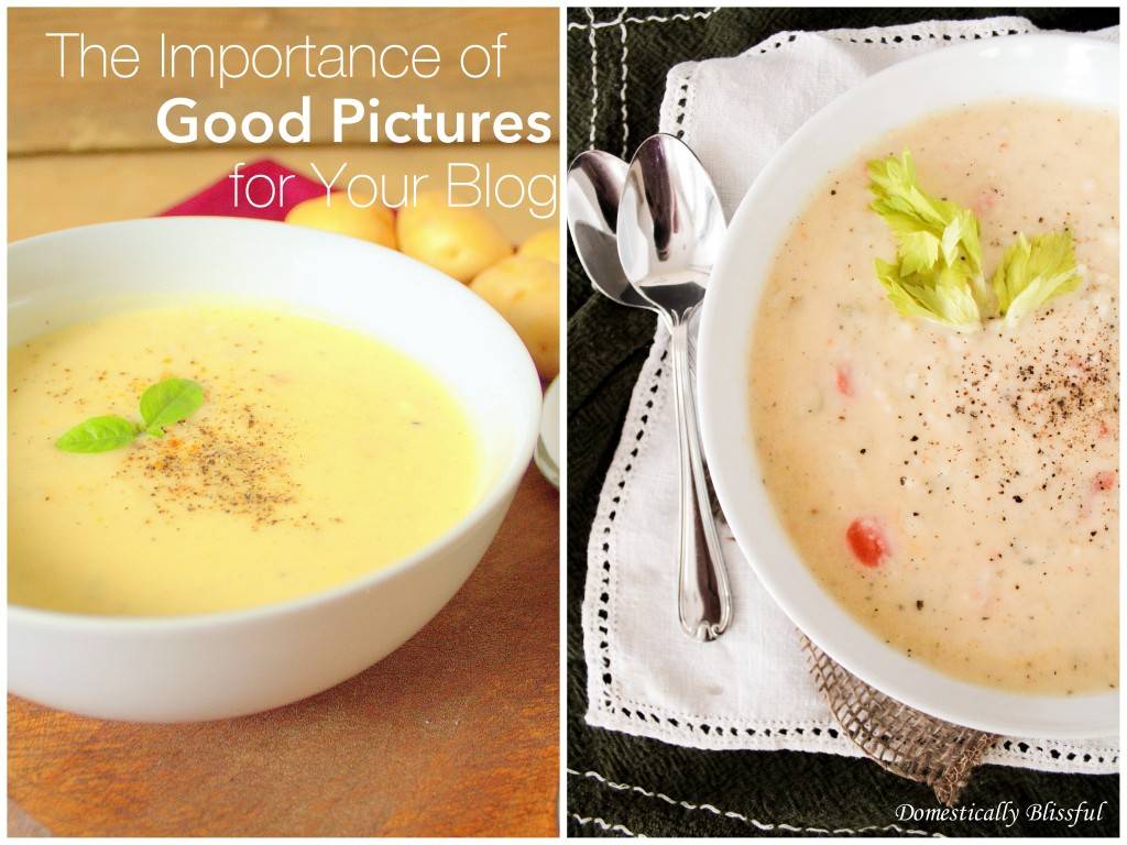 Havarti Potato Soup Before and After