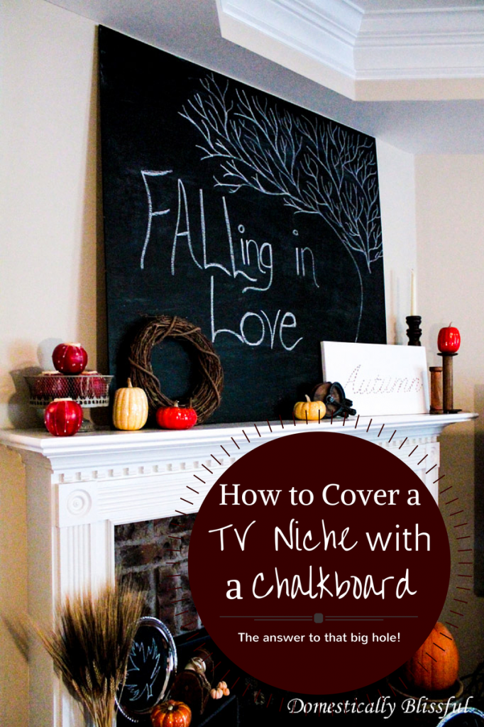 Cover TV Niche with Large Chalkboard