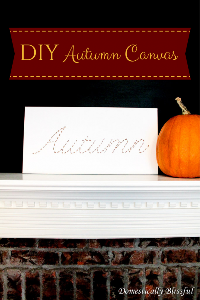 DIY Autumn Canvas