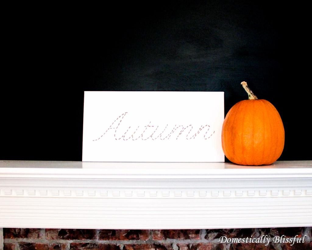 DIY Autumn Canvas