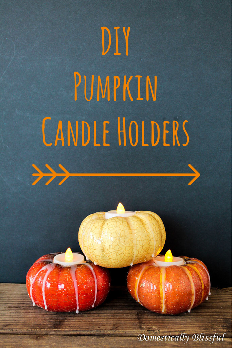 DIY Pumpkin Candle Holders