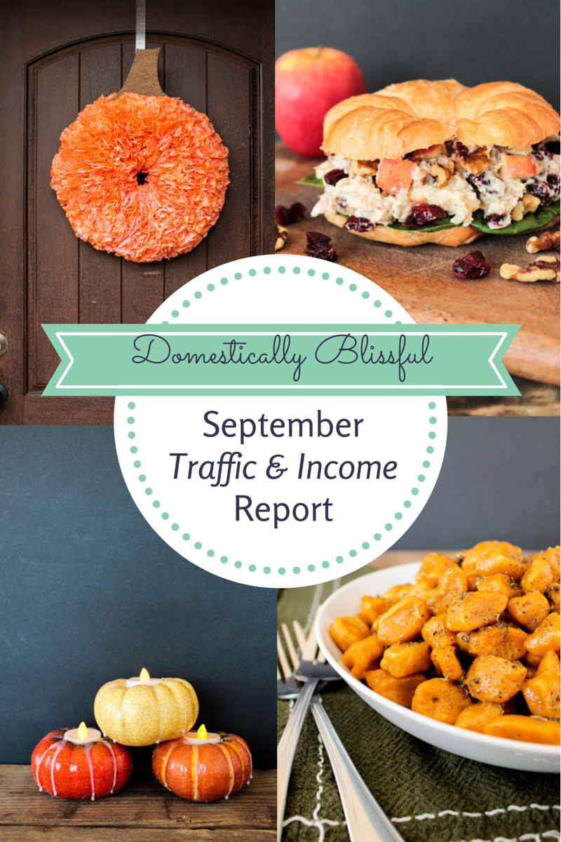 Domestically Blissful's September Traffic & Income Report
