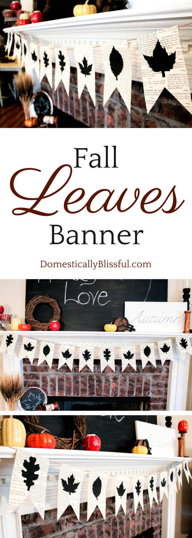Fall Leaves Banner tutorial by Domestically Blissful