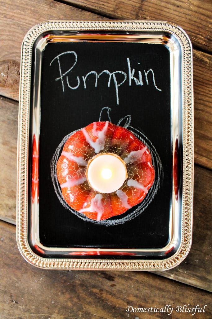 Faux Pumpkin Candle
