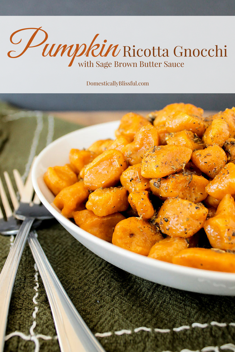 Pumpkin Ricotta Gnocchi with Sage Brown Butter Sauce