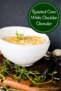 Roasted Corn White Cheddar Chowder