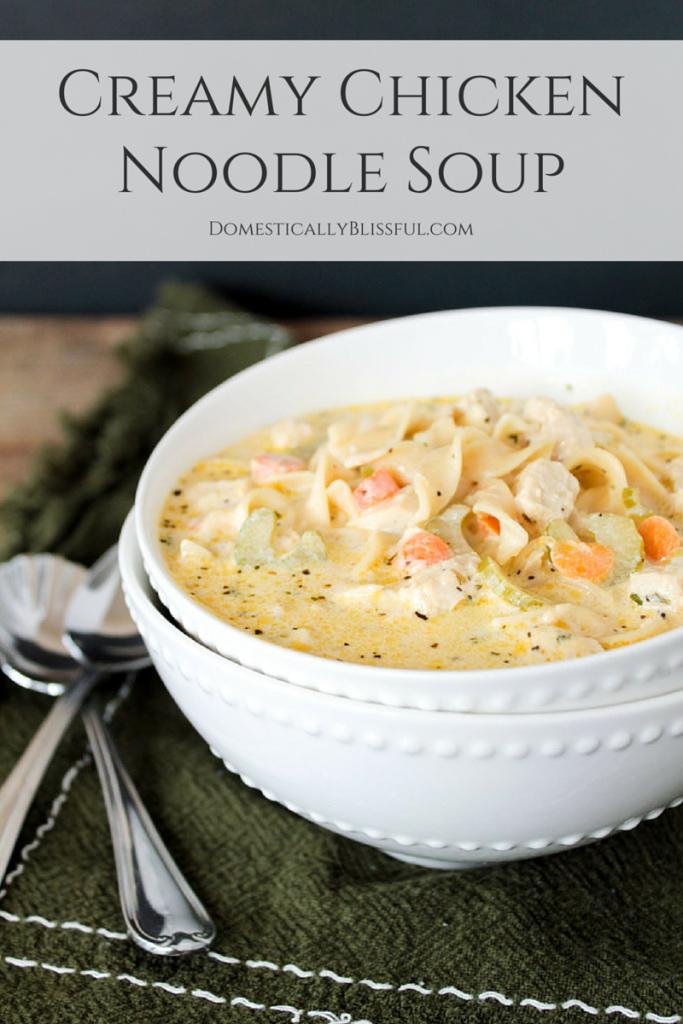 Creamy Vegetarian Chicken Noodle Soup
