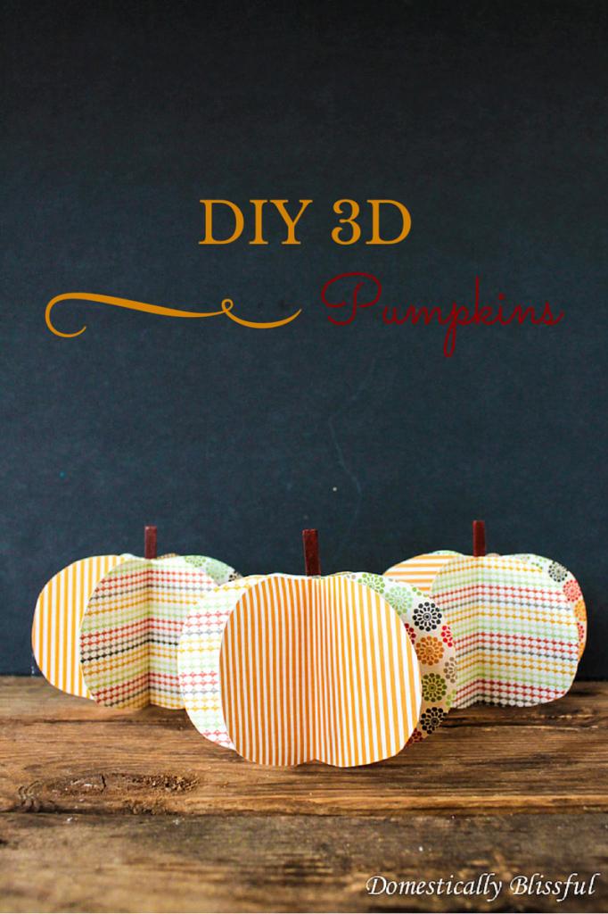 DIY 3D Pumpkins