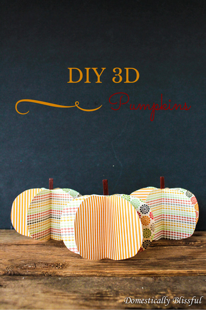 DIY 3D Pumpkins