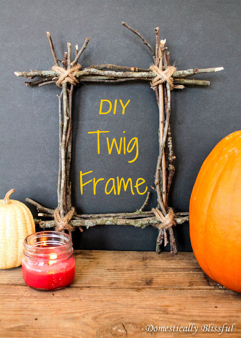 picture frame craft ideas adults diy twig frame 7038