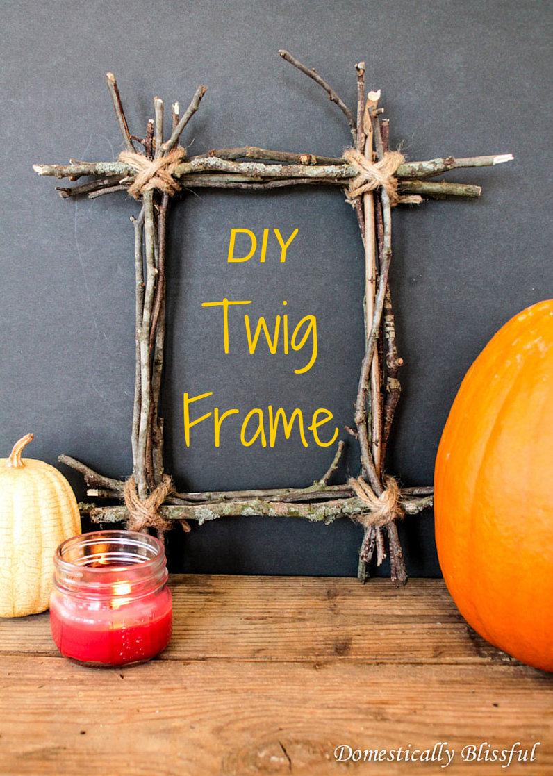 DIY Twig Frame