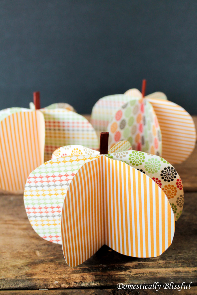 Fall Scrapbook Paper Pumpkins