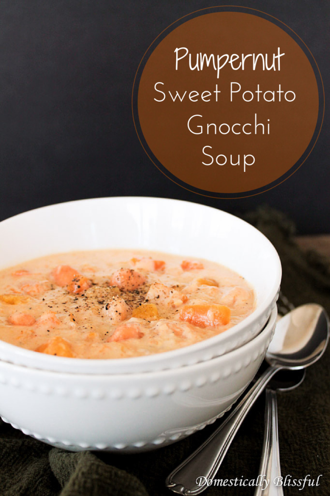 Pumpernut Sweet Potato Gnocchi Soup