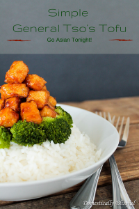 Simple General Tso's Tofu