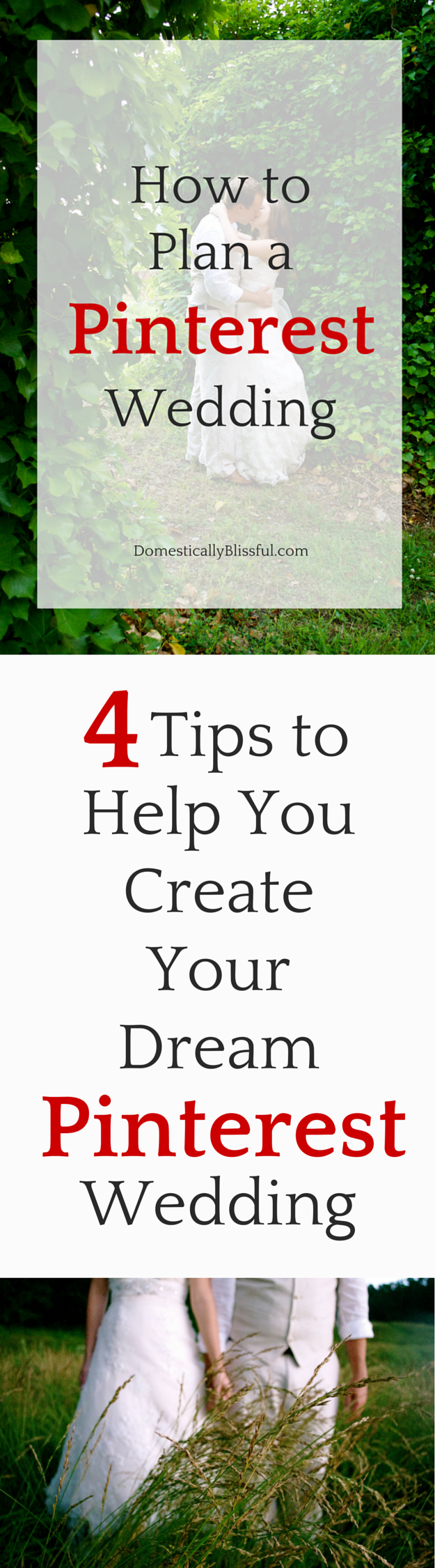 4 tips to help you create your dream Pinterest wedding