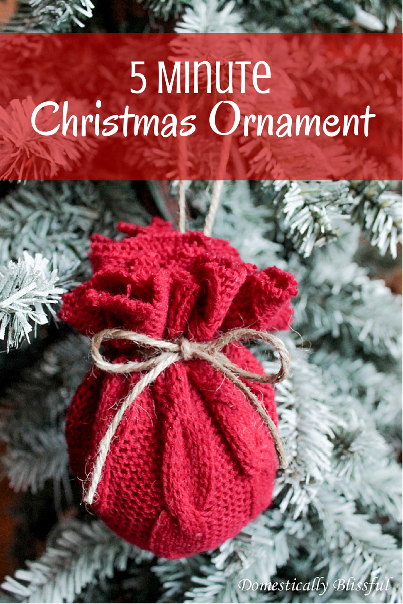 5 Minute Christmas Ornament
