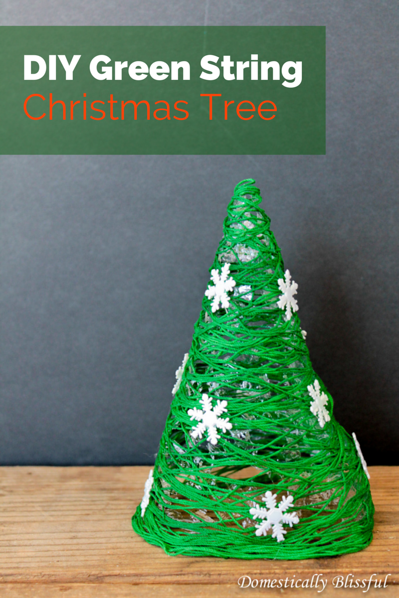 DIY Green String Christmas Tree