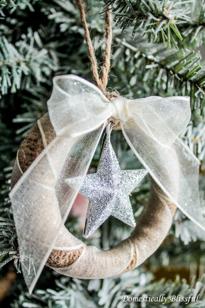 DIY Mason Jar Lid Ornament with Star