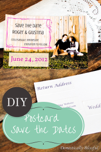 DIY Postcard Save the Dates