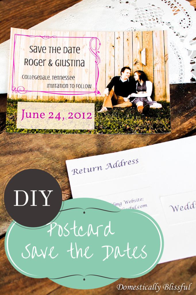 DIY Postcard Save the Dates