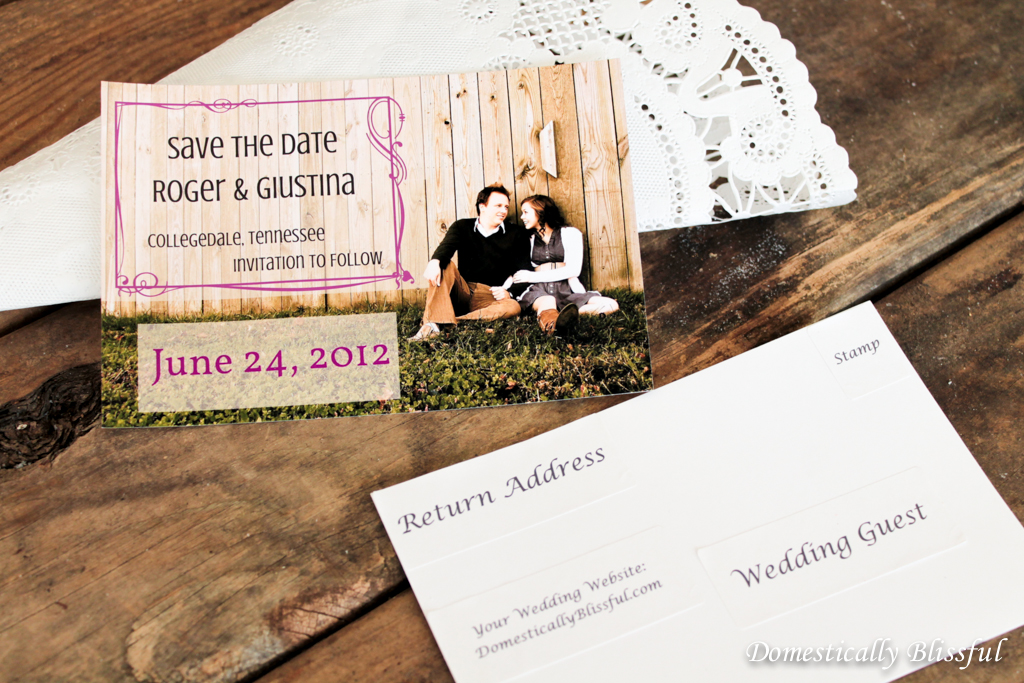 Diy save the date postcards diy postcards for save the dates junglespirit Images