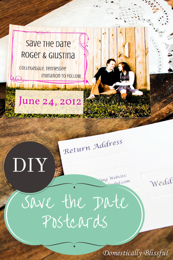 DIY Save the Date Postcards