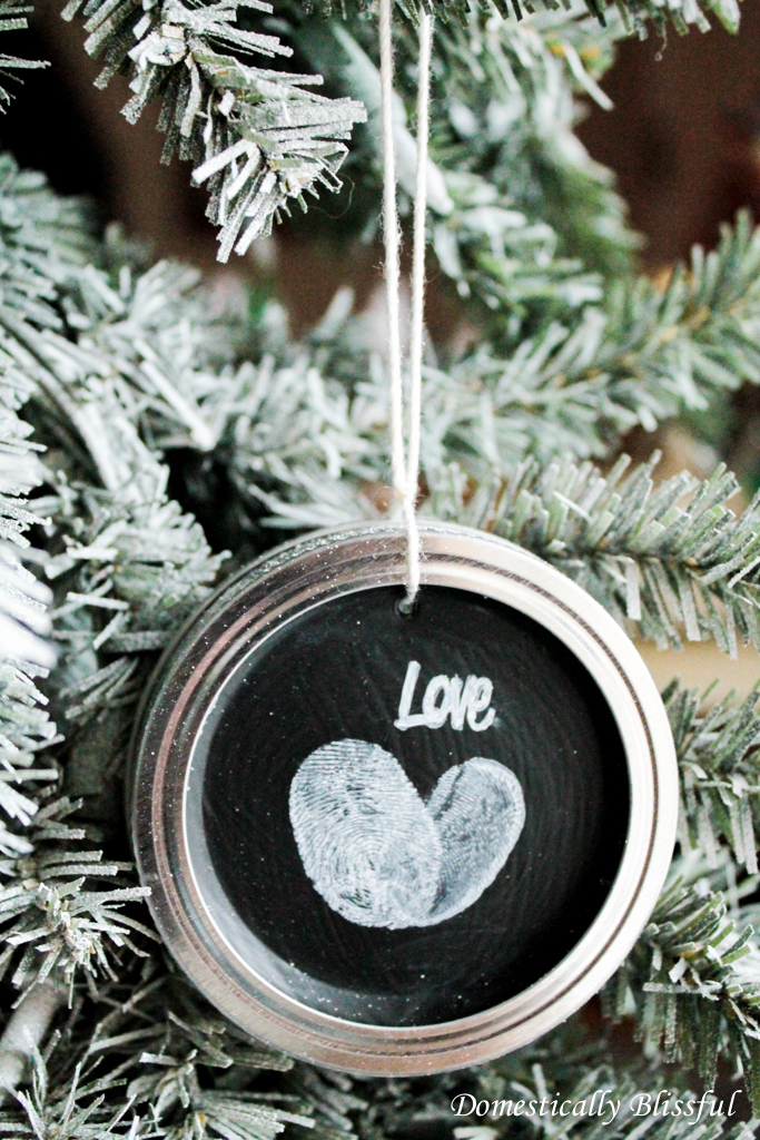 Fingerprint Christmas Ornament