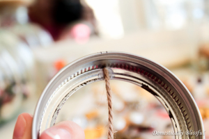 Glue Twine to Mason Jar Lid