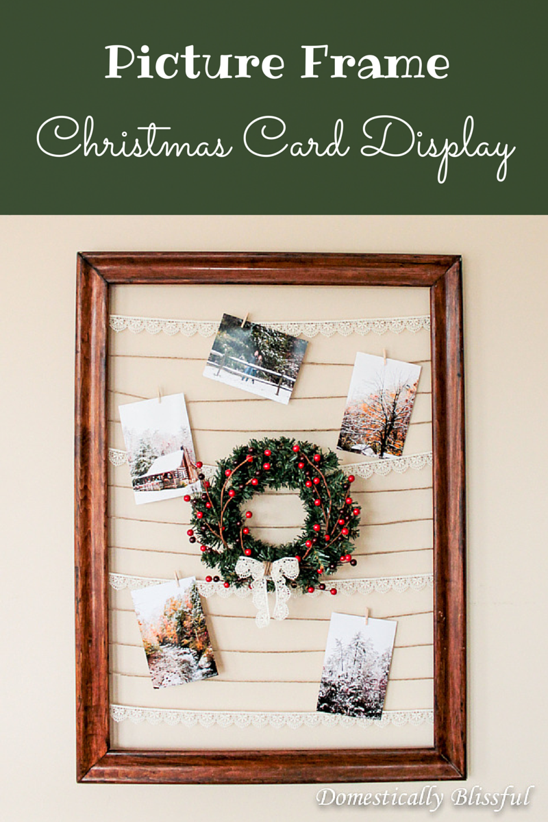 DIY Picture Frame Christmas Card Display