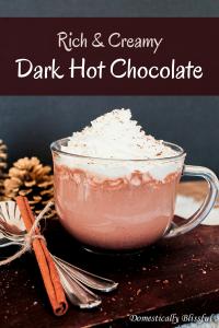 Rich & Creamy Dark Hot Chocolate