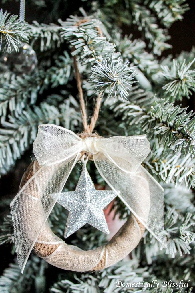 Twine Mason Jar Lid Ornament
