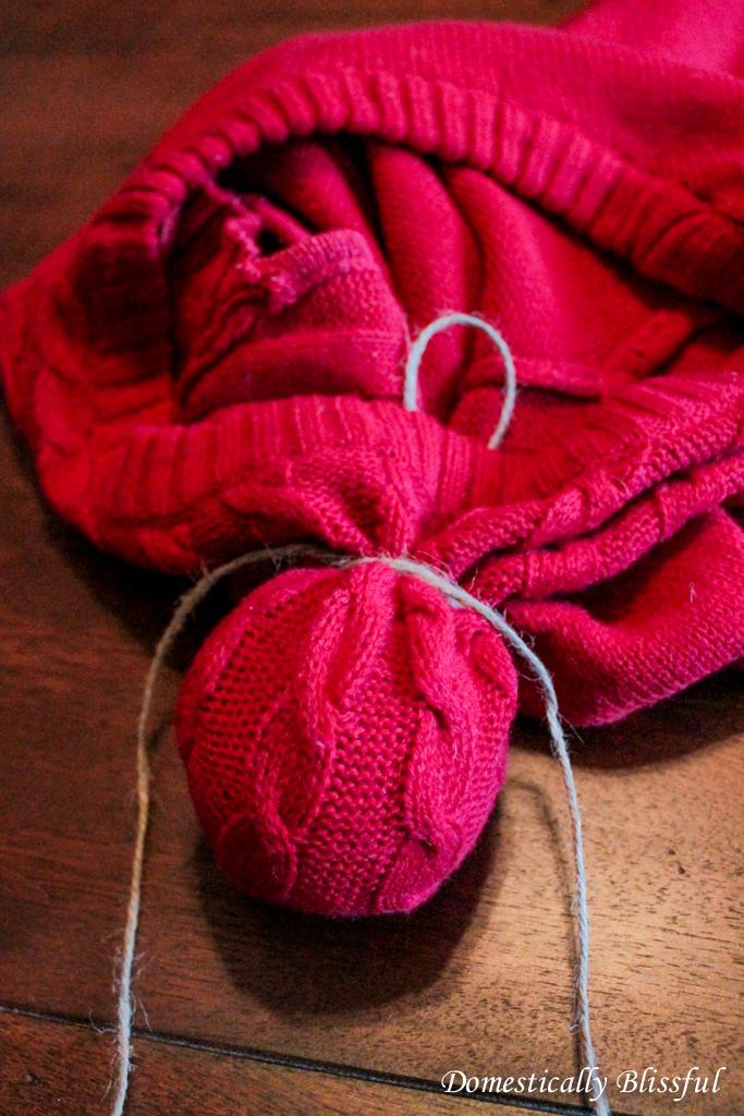 Wrap Ball in Fabric