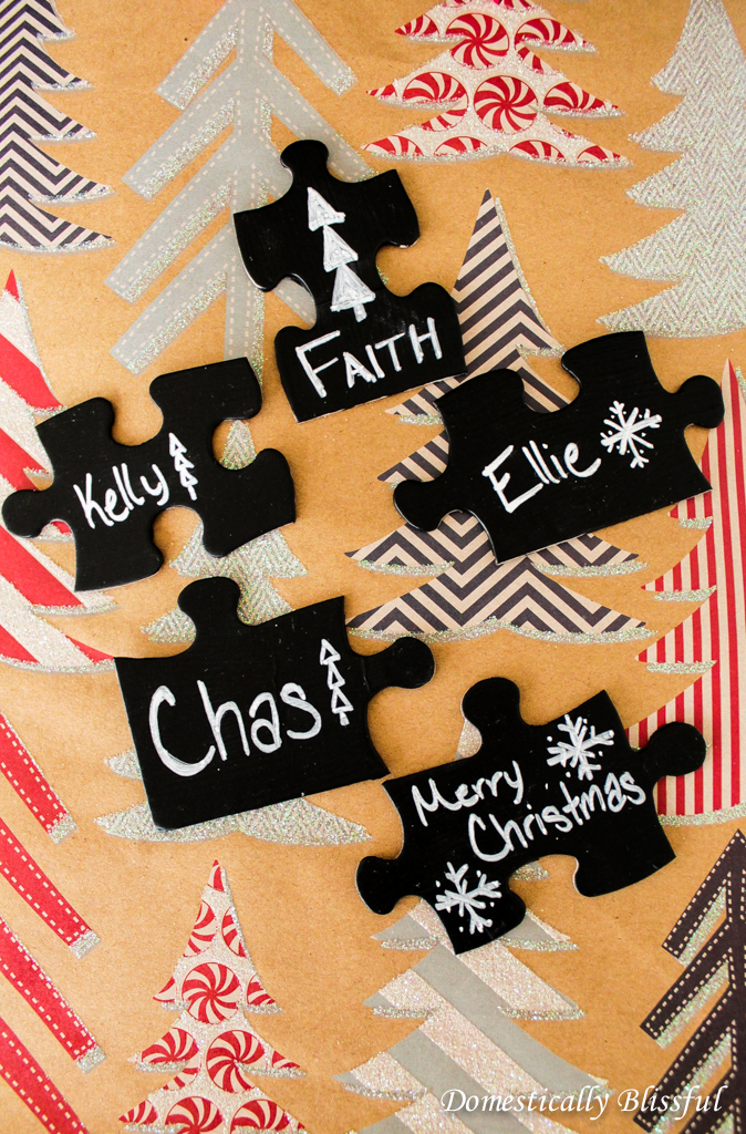 Chalkboard Puzzle Pieces