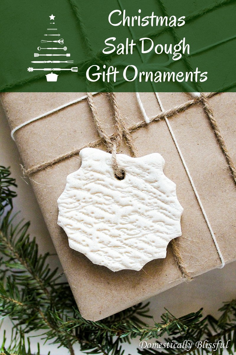 Christmas Salt Dough Gift Ornaments