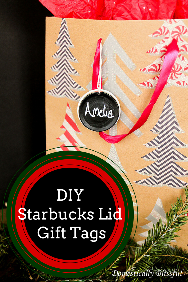 DIY Starbucks Lid Gift Tags