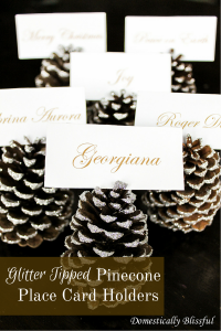Glitter Tipped PineconePlace Card Holders