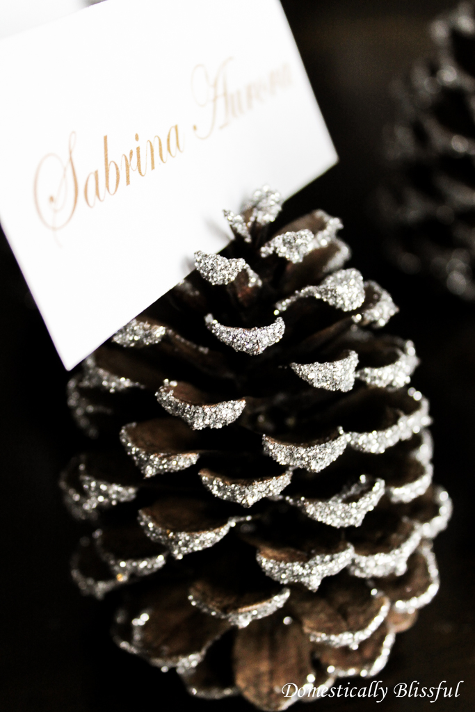 Glitter on a pinecone_