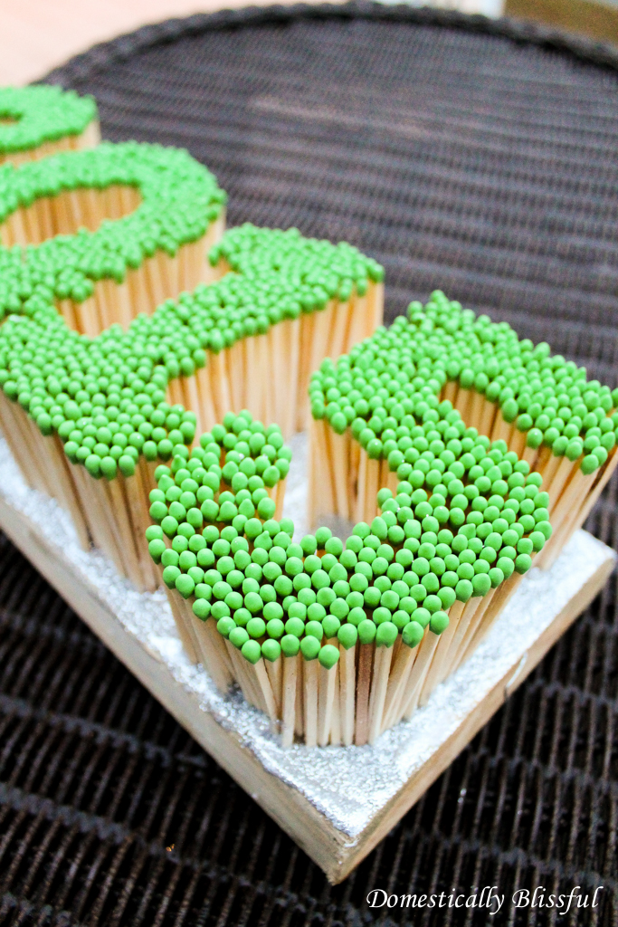 Matches in the shape of numbers